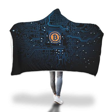 Cyber Bitcoin Hooded Blanket