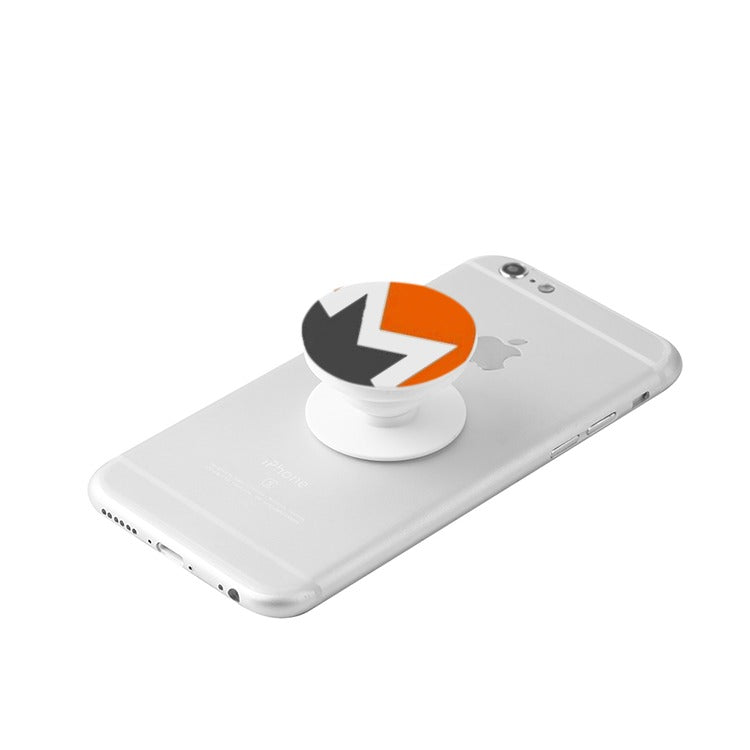 White Monero (XMR) Collapsible Grip & Stand for Phones and Tablets - MyCryptoMarket.ca