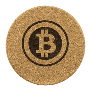 Retro Bitcoin Cork Coaster