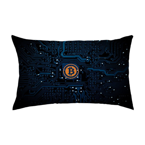 Cyber Bitcoin Multisized Premium Throw Rectangular Pillows & Covers - MyCryptoMarket.ca