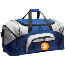 Load image into Gallery viewer, Bitcoin BG99 Port & Co. Colorblock Sport Duffel - MyCryptoMarket.ca