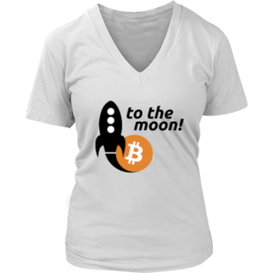 To The Moon v2 District V-Neck T-Shirt - MyCryptoMarket.ca