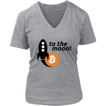 Load image into Gallery viewer, To The Moon v2 District V-Neck T-Shirt - MyCryptoMarket.ca
