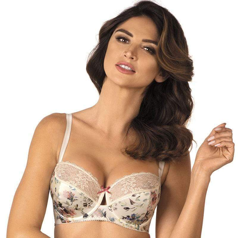 Semi Sheer Lace Padded Bra Gorteks Anabel - SunBeachApparel