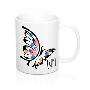 White Butterfly Mug 11oz