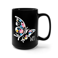 Load image into Gallery viewer, Black Butterfly Mug 15oz