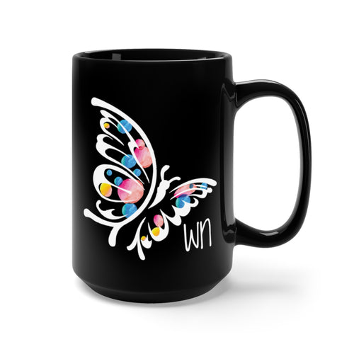 Black Butterfly Mug 15oz
