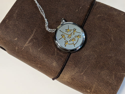 Dandelion Necklace - Essential Oil Diffuser Jewelry