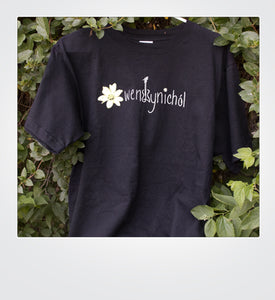 Black Flower Ladies Tee