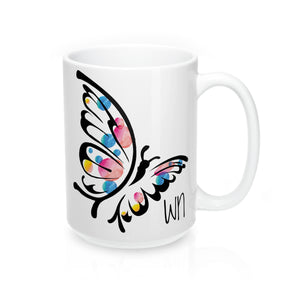 White Butterfly Mug 15oz