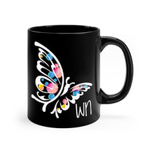 Load image into Gallery viewer, Black Butterfly Mug 11oz