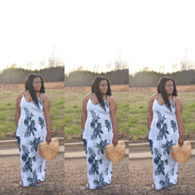 Load image into Gallery viewer, Olive Floral Maxi Dress