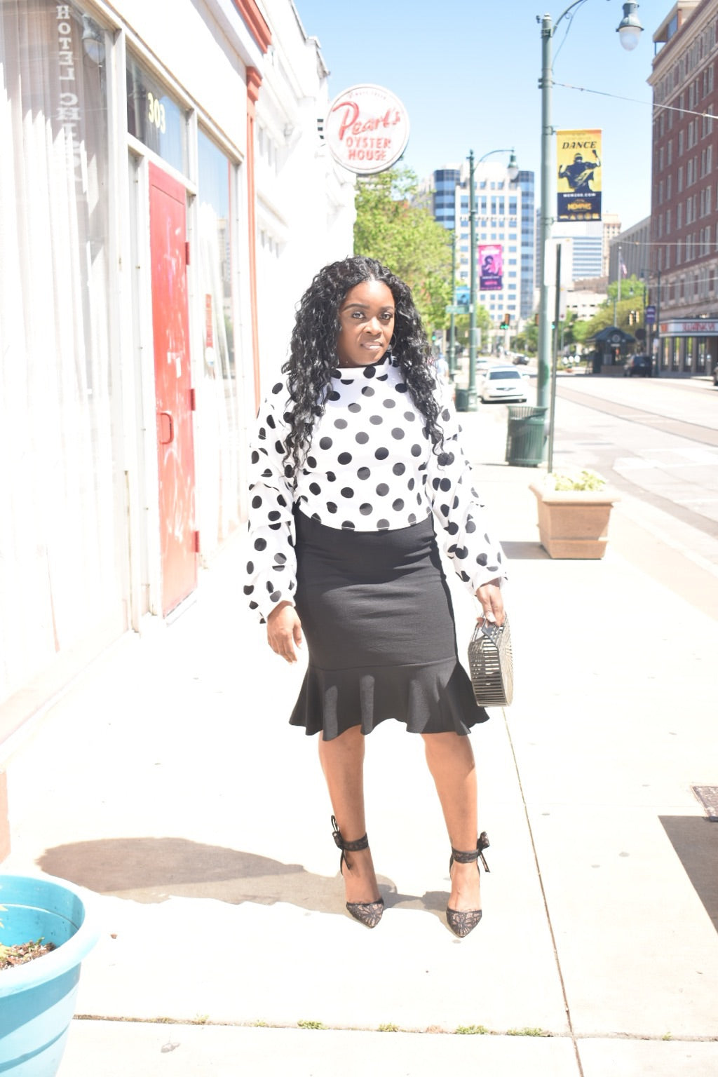 "Polka dot printed blouse ""Connect The Dots"""