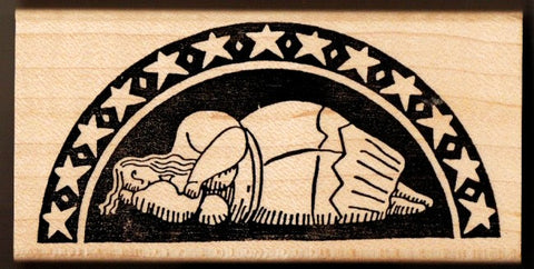 Sleeping or Dreaming Goddess of Malta Rubber Stamp