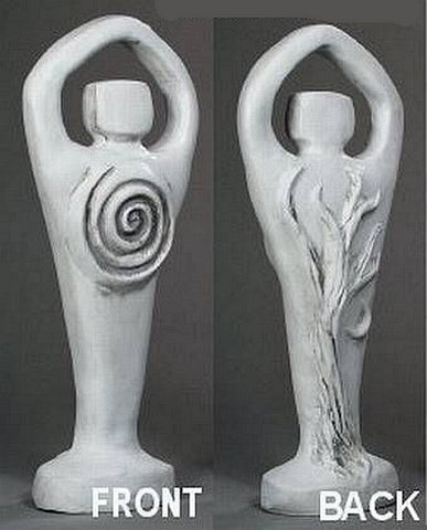 White Spiral Lord Statue Pagan God Nature Deity