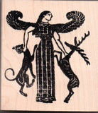 Lady of Beasts Artemis Rubber Stamp