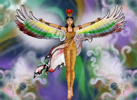Winged Isis Egyptian Goddess Banner