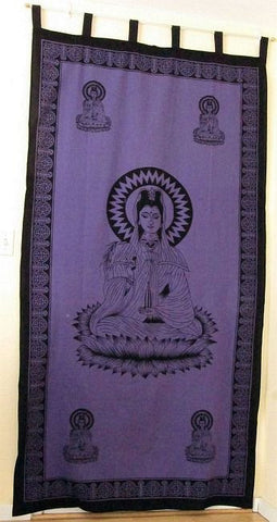 Kwan Yin Curtain in Shades of Purple