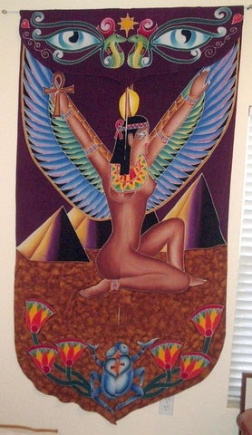 Goddess Isis Fabric Doorway