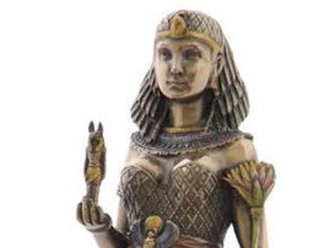 Egyptian Queen Holding Anubis Statue