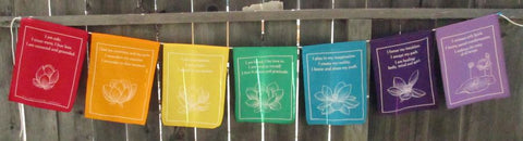 Healing Wellness Flags String Reiki Healer Wall Decor