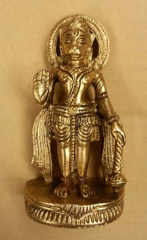 Hindu Hanuman Miniature Full Metal Brass Statue