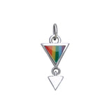 Triangle Under Rainbow Charm LGBTQ Lesbian Jewelry