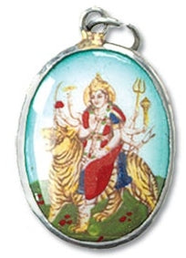 Hindu Durga Picture Pendant Warrior Goddess who Defeats Ego