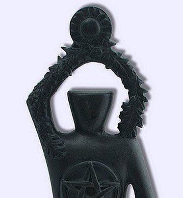 Pagan God Black Pentacle Lord of the Night Sky and Stars Statue