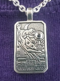 High Priestess Dancing Tarot Pendant with Natural Amethyst Stone by Ciro Marchetti