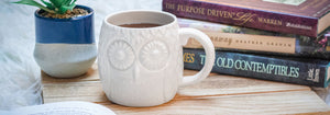 Oversized Embossed Owl Mug