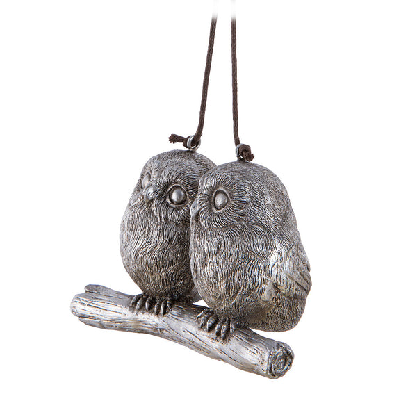 Whimsy Owl Couple Ornament Side