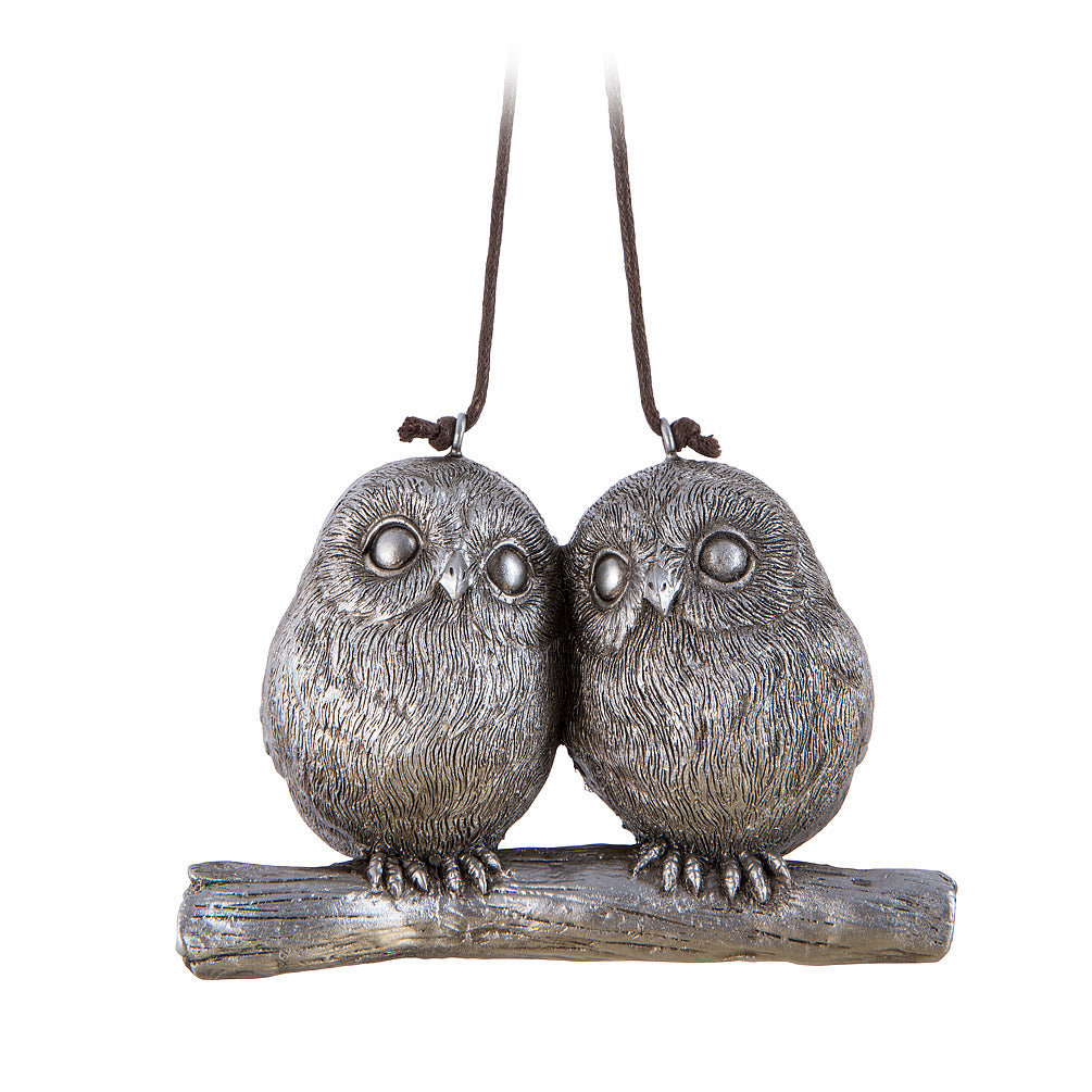 Whimsy Owl Couple Ornament Front