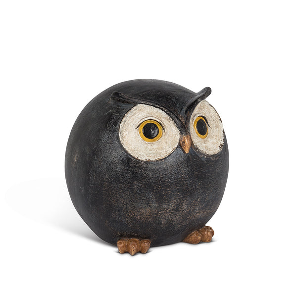 round wide-eyed owl ball home decor
