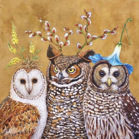 owl family lunch napkin