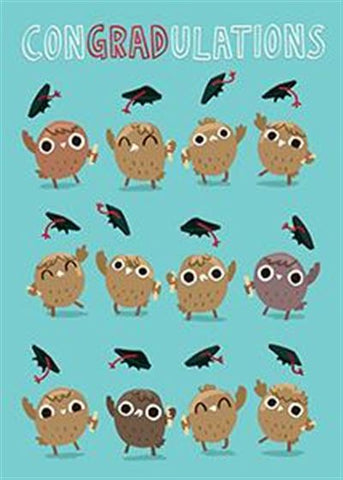 ConGRADulations Owl Greeting Card - Owl Aisle