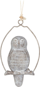 Perched Hanging Owl