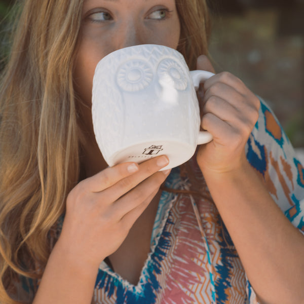 Embossed Oversized 20 oz Owl Mug