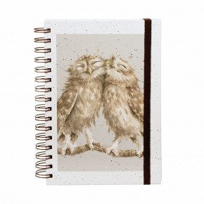 Birds of a Feather Owl Spiral Bound Notebook