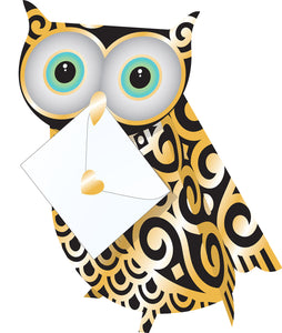 Special Delivery - Quill 3D Owl Card - Owl Aisle