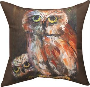 mama and baby owl pillow 18 x 18