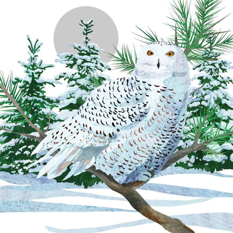 Snow Owl Dinner Napkin