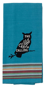 Kitchen Towel Owl The Wild Is Calling