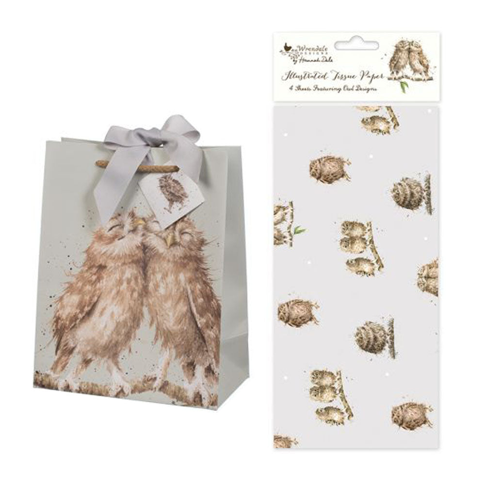 Owl Gift Bag & Owl Tissue Set