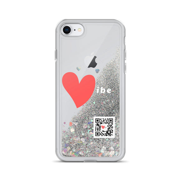 Vibe Logo Liquid Glitter iPhone Case