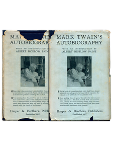 Mark Twain [Samuel L. Clemens]. Mark Twain's Autobiography. 1924. First edition.