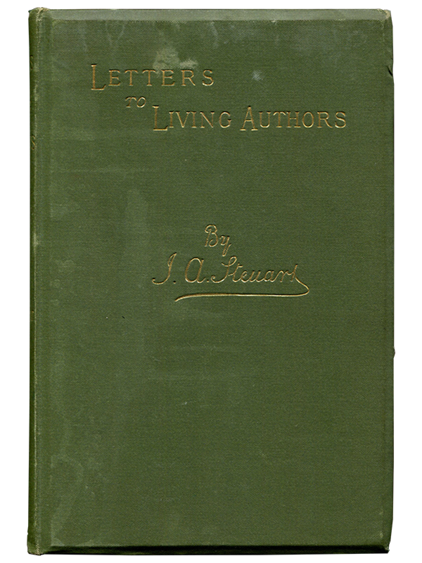 [Mark Twain]. John A. Steuart. Letters to Living Authors. 1890. First edition.