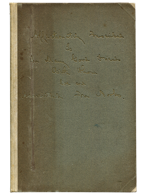 [Mark Twain (contributor)]. M. E. Wood (compiler). Lawrence and Eleanor Hutton. Their Books of Association. 1905. First edition.