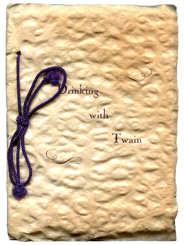 [Mark Twain (subject)]. Laurel O'Connor. Drinking with Twain. [1936]. First edition.