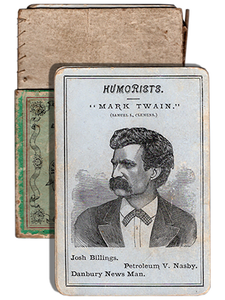 [Mark Twain (Samuel L. Clemens)]. Portrait Authors. [circa 1874]. First edition.